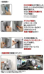 ニチワ電子(NICHIWA電子)13.3インチ地上デジタルハイビジョンDVD内蔵液晶テレビNEKO-10000A