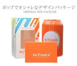 INTIMES(インタイムス)シチズンムーブ搭載レディース腕時計IT038ブラック