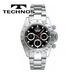 TECHNOS(テクノス)SEIKOムーブ搭載メンズ腕時計クロノグラフジルコニア・リミテッドT4102SKクリア