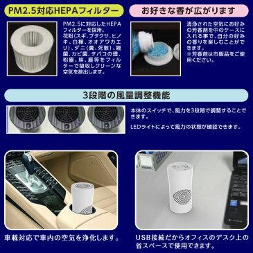 慶洋エンジニアリング(KEIYO) 車載用 USB 空気清浄機 (PM2.5対応) AN-S019 ホワイト USB空気清浄機 車載用空気清浄機 車用 オフィス コンパクト かわいい 卓上 シガー USB対応 【送料無料】