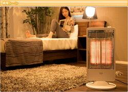 山善(YAMAZEN)遠赤外線カーボンヒーター速暖(900/450W2段階切替式首振り機能付)DC-S097(W)ホワイト