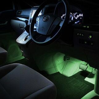LEDフットライトキット(緑)アルファード・ヴェルファイア(ANH20/GGH20/ATH20)