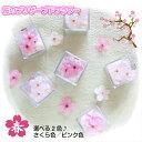 大人気!桜のプリザーブドフラワー ミニキューブ・さくら 選べる2色 プチギフト 自宅 桜 お花見 ソ
