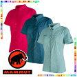 【マムート MAMMUT】 Trovat Advanced Shirt Women(レディース/半袖 ボタンシャツ)【2017年 春夏の新商品】☆お店で採寸しました☆