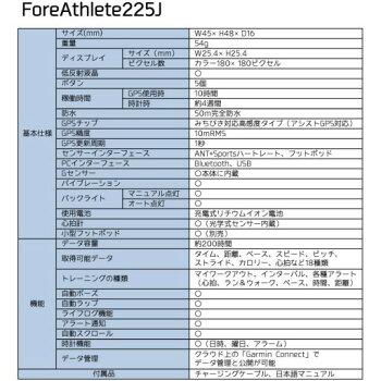 GARMIN(ガーミン)ForeAthlete225J(フォアアスリート225J)【日本正規品】