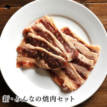【送料無料】お肉 詰め合わせ 新・みんなの焼肉セット北海道のお肉屋さんあおやまがお届けする、焼肉やbbqにぴったりのセット!幅広い世代が楽しめる味付き牛カルビ、とり串、手羽先、豚みそホルモン、豚塩ホルモンセットです。