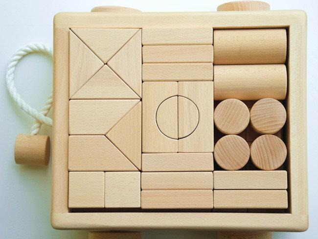 日本製ブナの木無塗装 ハンドメイド2段43ピース