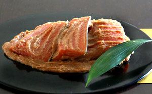 味噌屋が造るサーモンの香味漬け 大ぶり 5切れ(90g〜110g)