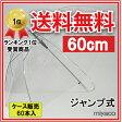 【送料無料】ビニール傘 ジャンプ式(透明)親骨60cm 60本_業務用