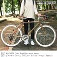 自転車 お洒落 700cc WACHSEN -wood- Jaeger ロードバイク おしゃれ 街乗り シティサイクル ヴァクセン シマノ インテリア 雑貨 ライフスタイル ギフト プレゼント デザイン auktn【RCP】10P03Sep16