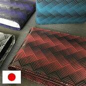 【送料無料】【日本製】伝統的な漆でモダンな幾何学模様を鮮やかに表現した二つ折り財布【ISURU JAPON】フレッシャーズ 就職祝 ビジネス メンズ レディース ユニセックス 天然牛革 上質 国産