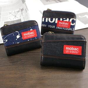 財布メンズラウンドファスナーデニムカジュアル普段使いジャバラ大容量モバックmobac