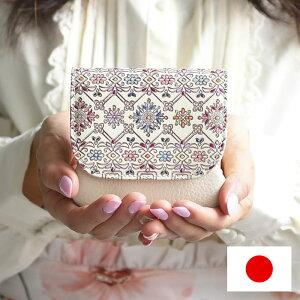 説明1がま口財布小銭入れレディースフラップ本革コンパクト日本製手染め花柄文庫革口金フラワーガーデンシリーズ