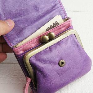 内装3|フラップがま口財布paccapaccaキャンディーシリーズレディー