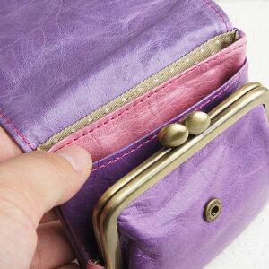 内装9|フラップがま口財布paccapaccaキャンディーシリーズレディー