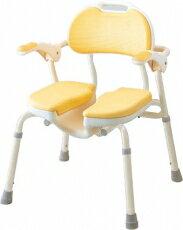 安寿 入浴用椅子ひじ掛け付シャワーイスHPアロン化成
