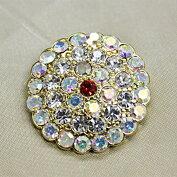 キラキラ宝石ボタンフェイクダイヤモンド25mm