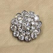 キラキラ宝石ボタンフェイクダイヤモンド20mm