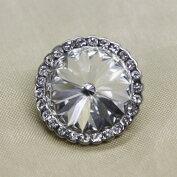 キラキラ宝石ボタンフェイクダイヤモンド18mm