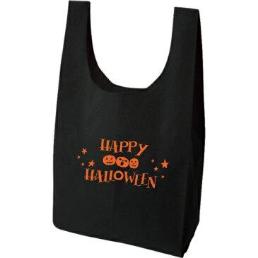 【TR】バッグ トート エコバッグ トートバッグ 可愛い ハロウィン 軽い 丈夫 | コットン | オレンジ ホワイト | M | HY-0803 | ハロウィン トート(10ヶ単位)