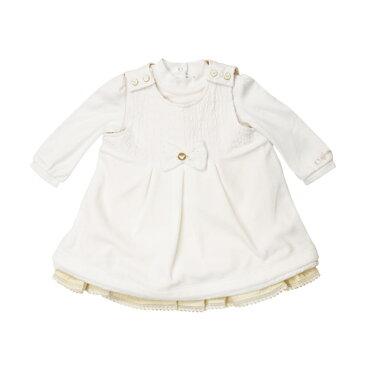 アルマーニ ベビー ARMANI BABY ベビー服 出産祝いギフト 2点セット (長袖ロンパース・ワンピース) ZKT02BJ【あす楽対応】