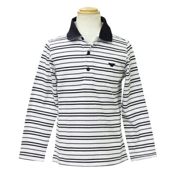 アルマーニ ジュニア ARMANI JUNIOR 子供服 長袖ポロシャツ RXM826HWHT