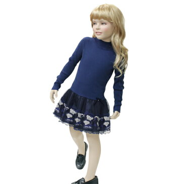 BLUMARINE BABY ブルマリン ベビー 長袖・子供 ドレス・ワンピース フォーマルドレス BJ7086NVY 【ブランド子供服】
