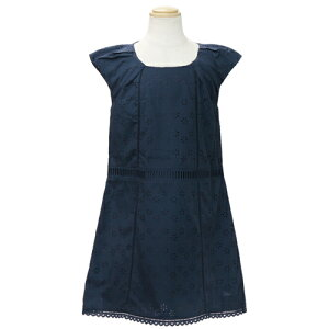 Christian Dior Christian Dior Sleeveless Children Dress One Piece Formal Dress CD-0287NVY [Brand children's clothing]