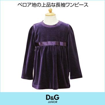 D&G ジュニア 長袖ワンピース DGL54386PU 【ブランド子供服】