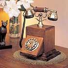 高級感あふれるアンティーク電話機 Wood Desk Telephoneインテリアにも最適!