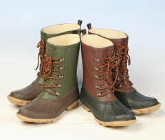 【長靴 メンズ】ビーンブーツタイプのラバーブーツ《弘進》マックウォーカー301(レインブーツ)