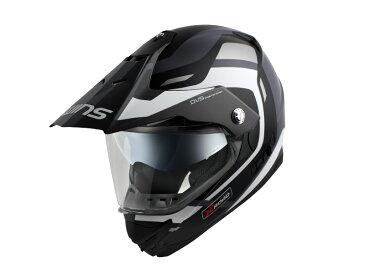 ウインズ(WINS)オフロードインナーバイザーつきヘルメット X-ROAD グラフィック(FREE RIDE) (マットブラック×ホワイト・M)
