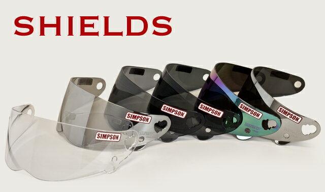 シンプソン(SIMPSON)ヘルメットオプション M30用シールド ミラーシールド レインボー(ライトスモークベース)