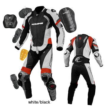 コミネ(KOMINE) S-52 レーシングレザースーツ(ホワイト/ブラック・XL)