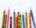 【O'BON】オーボン 新聞からできた色鉛筆 Wildlife 12色 【ワイルドライフ/えんぴつ/オフィ...