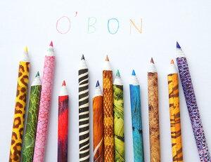 オーボン新聞からできた色鉛筆