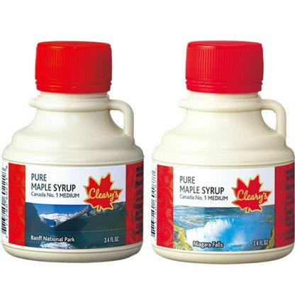 【カナダお土産がポイント10倍&送料無料!】メープルシロップ風景ボトル3個セット3セット(9個)(カナダおみやげ)