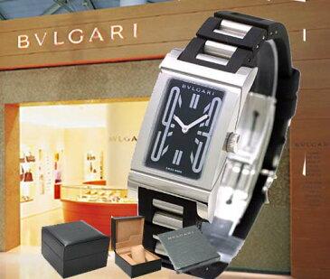 BVLGARI ブルガリ レッタンゴロ ラバーブレス RT39SV レディース 腕時計