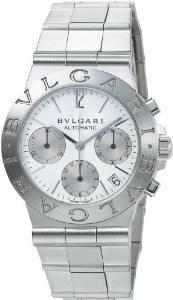 BVLGARI (ブルガリ) 腕時計 CH35WSSD ディアゴノ クロノグラフ ホワイト メンズ 腕時計