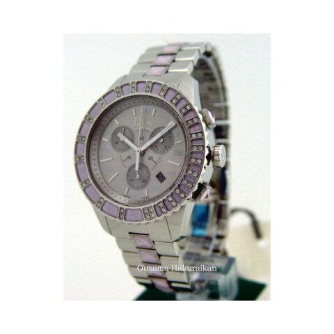Christian Dior クリスチャン・ディオール 腕時計 クリスタル クロノ ダイヤモンドウォッチ CD114315M001 ピンク レディース