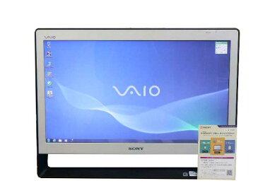 SONY デスクトップパソコン 中古パソコン VPCJ137FJ ホワイト デスクトップ 一体型 本体 Windows7 Pentium DVD 地デジ 4GB/500GB 送料無料 【中古】