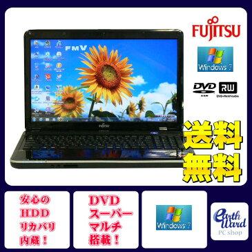 富士通 ノートパソコン 中古パソコン AH40/D ブラック テンキー ノート 本体 Windows7 WPS Office付き Athlon DVD 4GB/640GB 送料無料 【中古】