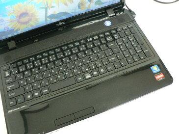 ノートパソコン 中古パソコン AH40/D ブラック テンキー ノート 本体 Windows7 富士通 WPS Office付き Athlon DVD 4GB/640GB 送料無料 【中古】