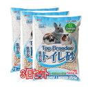 【お徳用】[GEX]Top Breeder流せるトイレ砂(7L×3個セット)
