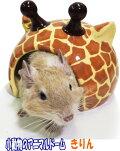 [レインボー]ハムスター・デグー用陶器製ハウス小動物のアニマルドーム・きりん