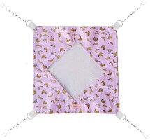 [レインボー]デグー・モモンガ用ミニメッシュハンモックバナナ(ピンク)