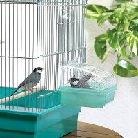[スドー]小鳥の水浴び容器外掛式バードバス