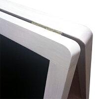 アンティーク仕上げの木製A型看板マーカーとチョークの両方が使える!板面:ブラック(つや消し)/フレーム:ホワイト58990-2【T048】【自社在庫品】
