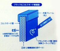 ブラックボード&コルクボードA2サイズ(450×600mm)43018