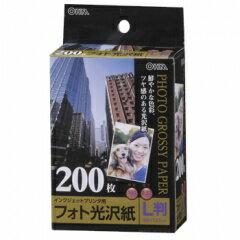 フォト光沢紙 L版 200枚入 PA-PHG-L/200 01-3259 オーム電機